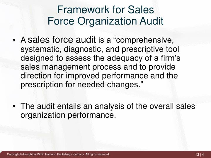 Framework for Sales