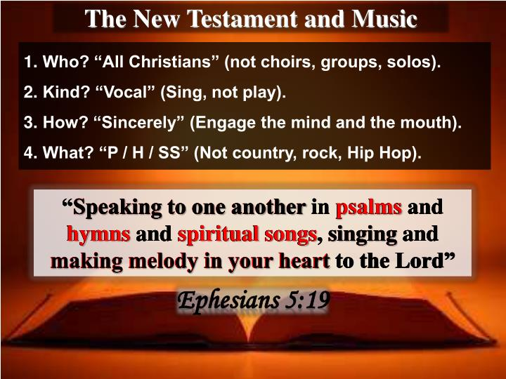 The New Testament and Music