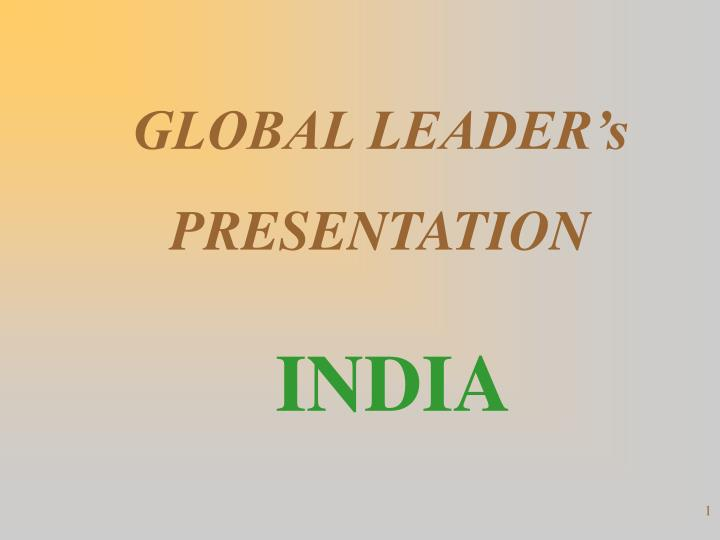 global leader s presentation