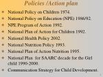 policies action plan