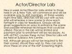 actor director lab