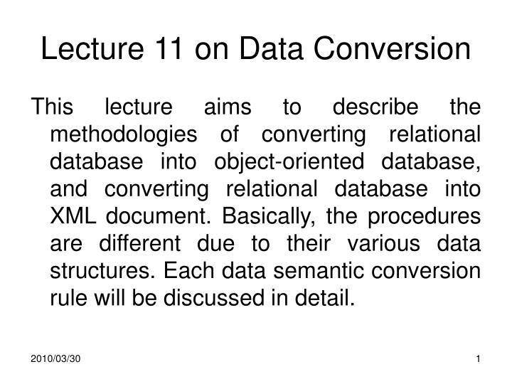 lecture 11 on data conversion n.