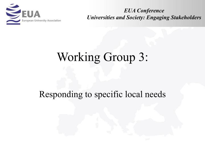 working group 3