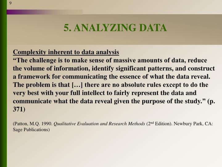 5. ANALYZING DATA