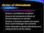 duties of attendants2