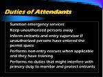 duties of attendants3