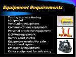 equipment requirements