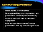general requirements1