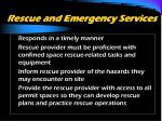 rescue and emergency services1