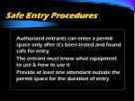 safe entry procedures3