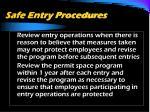 safe entry procedures5