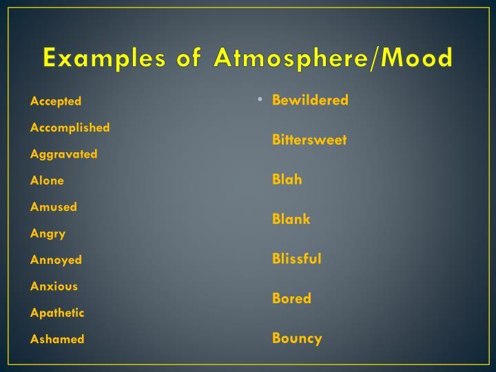 ppt - atmosphere  mood powerpoint presentation