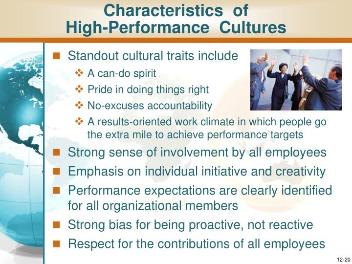 the hallmarks of a high performance corporate culture include