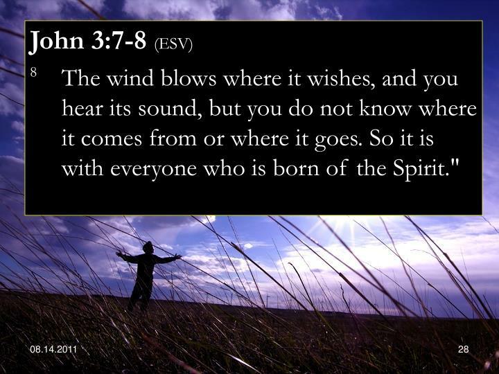 John 3:7-8