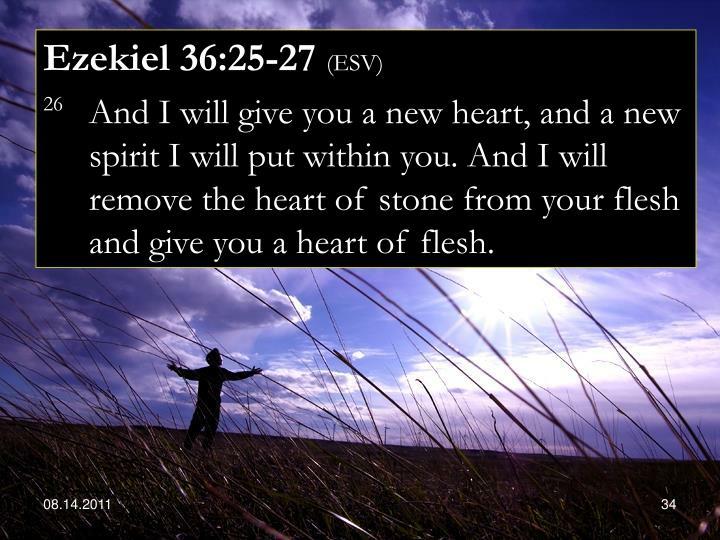 Ezekiel 36:25-27