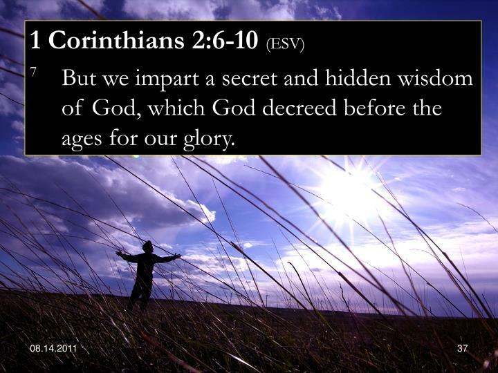 1 Corinthians 2:6-10