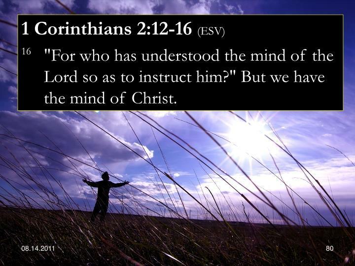 1 Corinthians 2:12-16