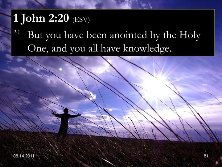 1 John 2:20