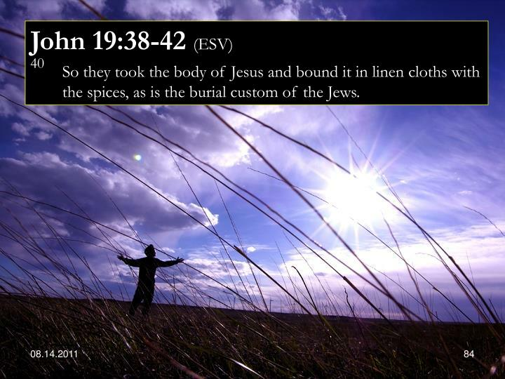 John 19:38-42