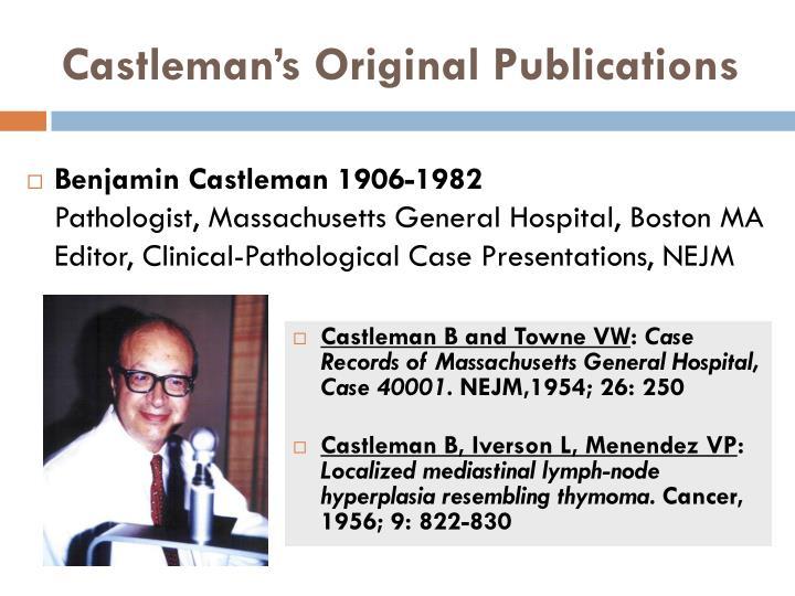 Castleman's Original Publications
