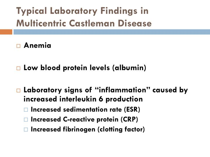 Typical Laboratory Findings in