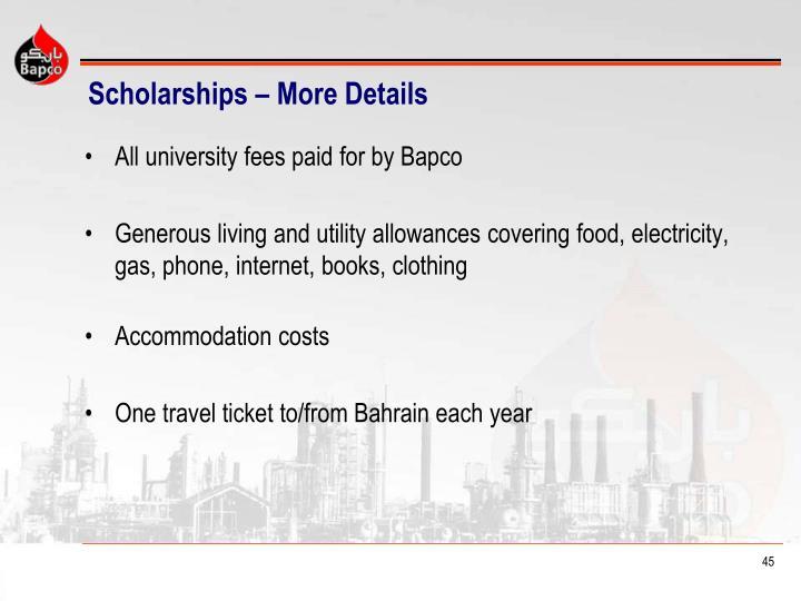 Scholarships – More Details