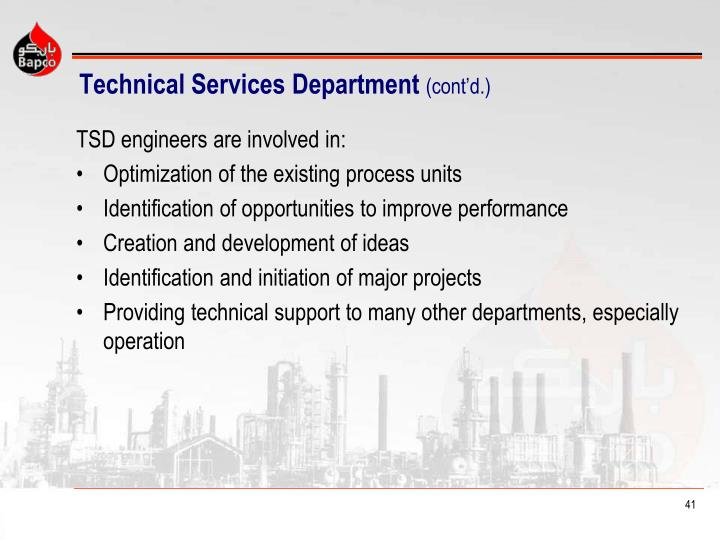 Technical Services Department