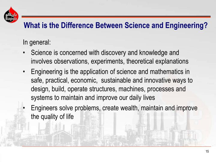 What is the Difference Between Science and Engineering?
