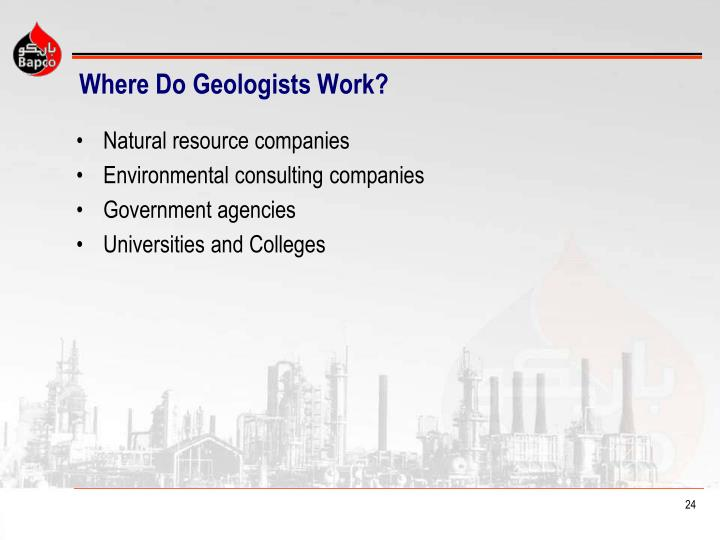 Where Do Geologists Work?