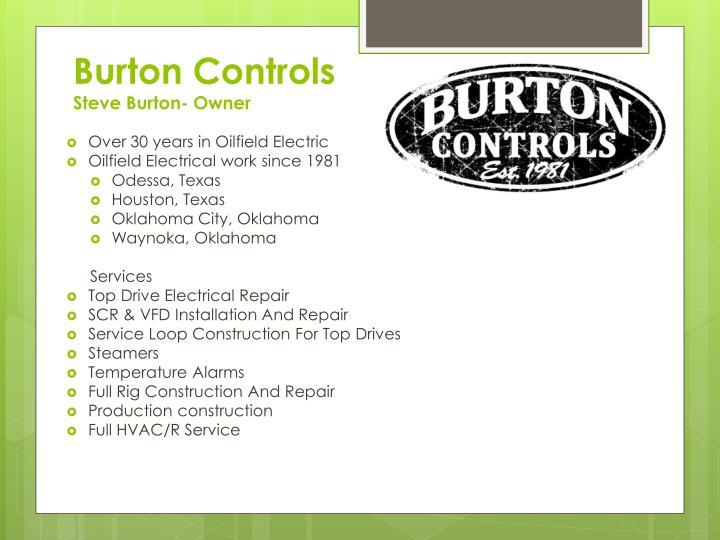 Burton controls steve burton owner