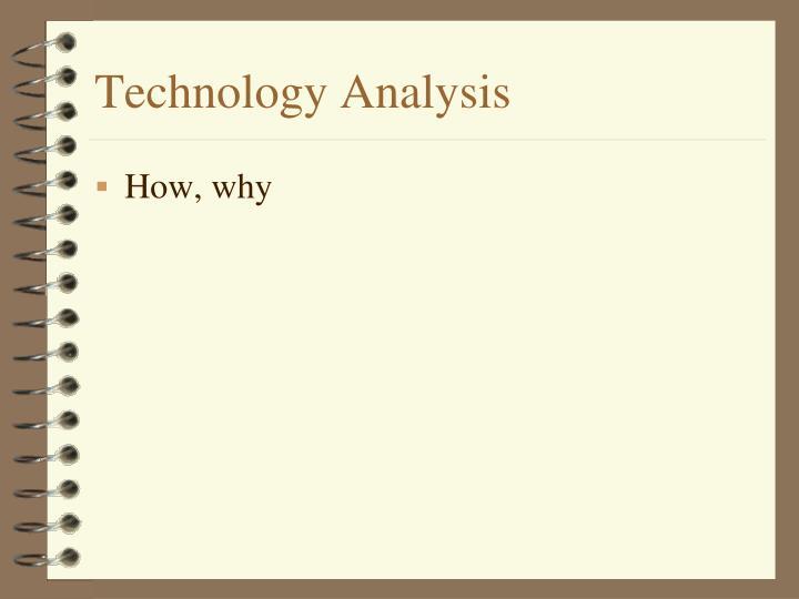 Technology Analysis