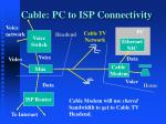 cable pc to isp connectivity
