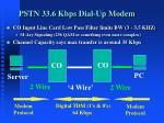 pstn 33 6 kbps dial up modem