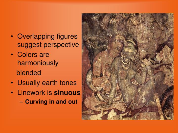 Overlapping figures suggest perspective