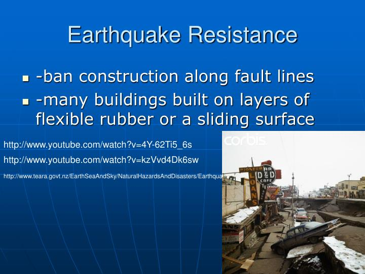 Earthquake Resistance