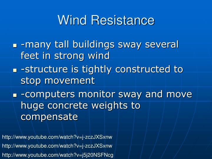 Wind Resistance