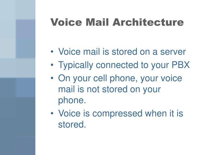 Voice Mail Architecture