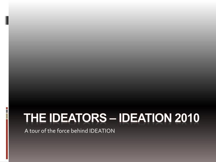 the ideators ideation 2010 n.