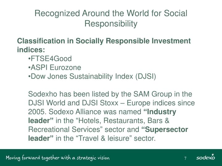 Recognized Around the World for Social Responsibility
