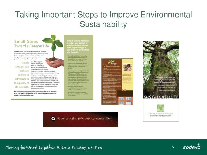 Taking Important Steps to Improve Environmental Sustainability