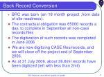 back record conversion