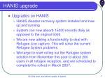 hanis upgrade