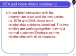 sita and home affairs relationship