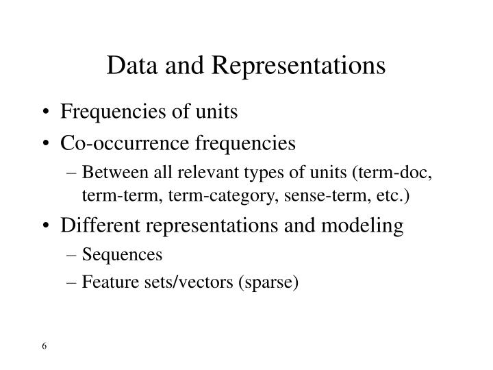Data and Representations
