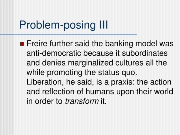 Problem-posing III