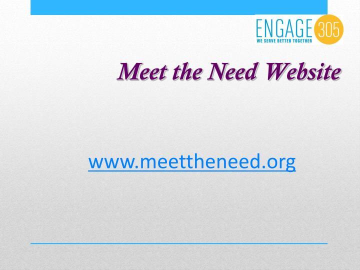 Meet the Need Website