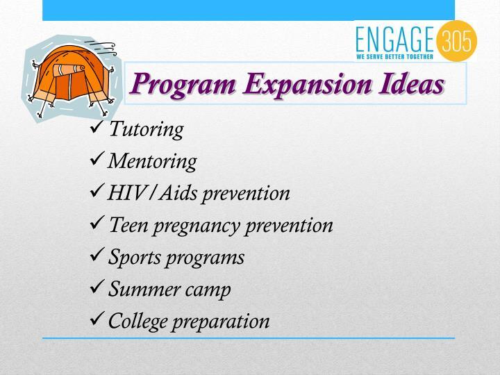 Program Expansion Ideas