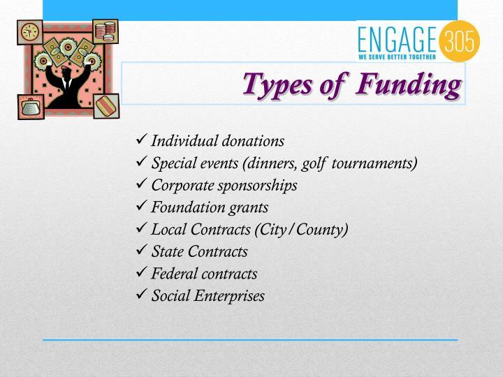 Types of Funding