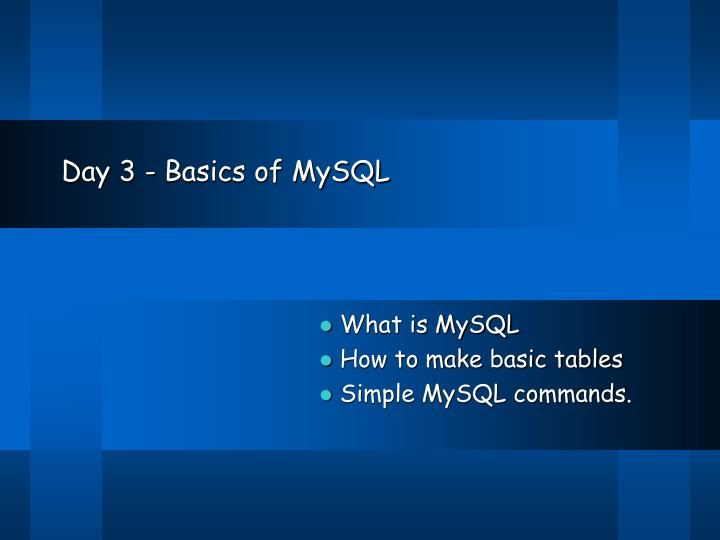 day 3 basics of mysql n.