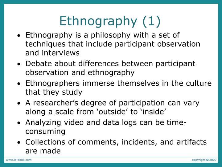 Ethnography (1)